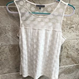 Brixon ivy off white sleeveless w/dots Size M